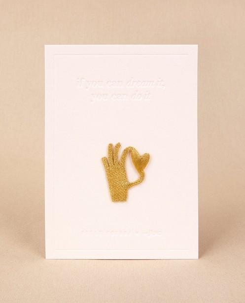 Écusson à repasser avec une main Petit Pourri - et un petit cœur - Petit Pourri