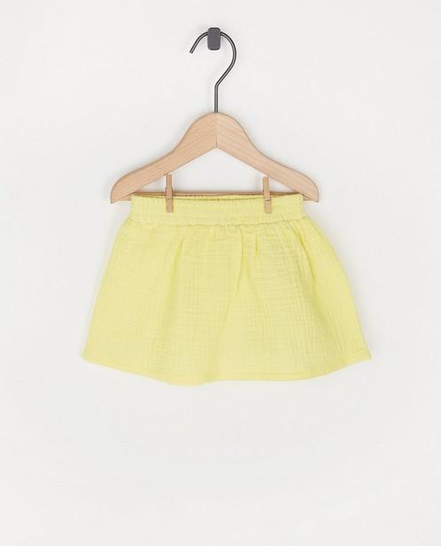 Jupe jaune en matière tétra - à élastique - Cuddles and Smiles