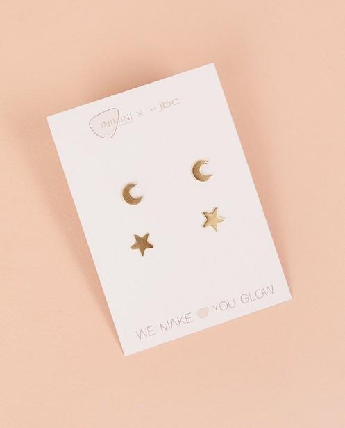 2 paires de boucles d'oreilles twinning Inimini Homemade - étoile et lune - Inimini Homemade