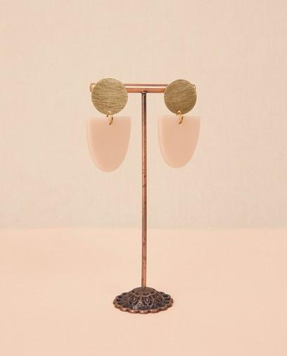 Boucles d'oreilles en laiton avec de l'argile Inimini Homemade