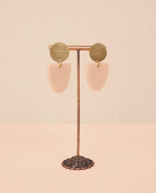 Messing oorbellen met klei Inimini Homemade - 5 cm x 2,8 cm - Inimini Homemade