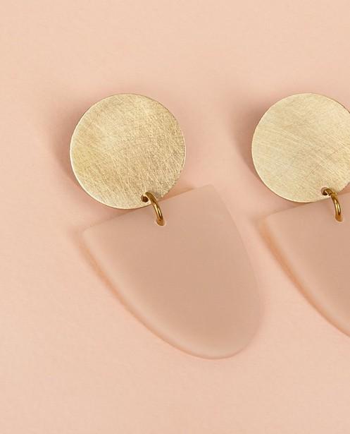 Gadgets - Messing oorbellen met klei Inimini Homemade