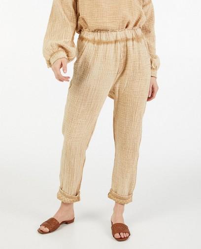Pantalon palazzo brun