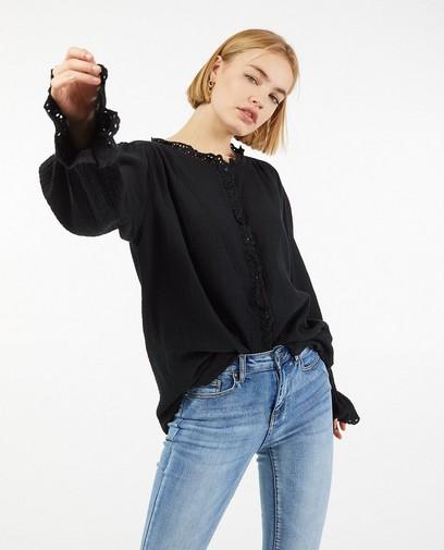 Zwart hemd van tetrastof