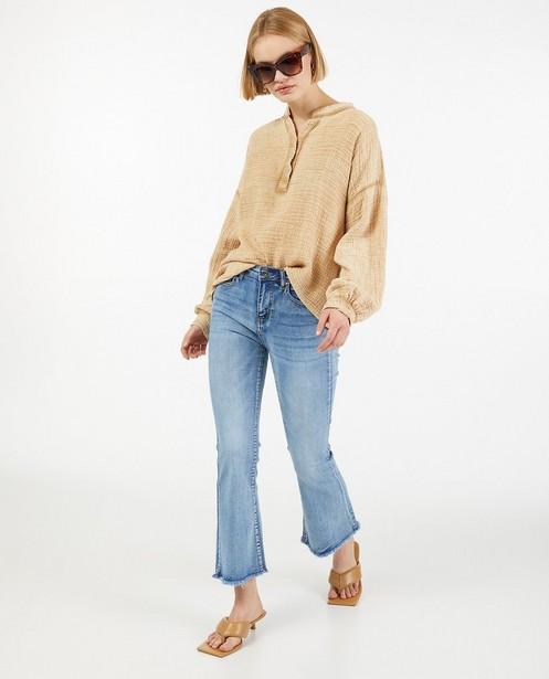Bruine blouse van tetrastof - tuniek - Paris