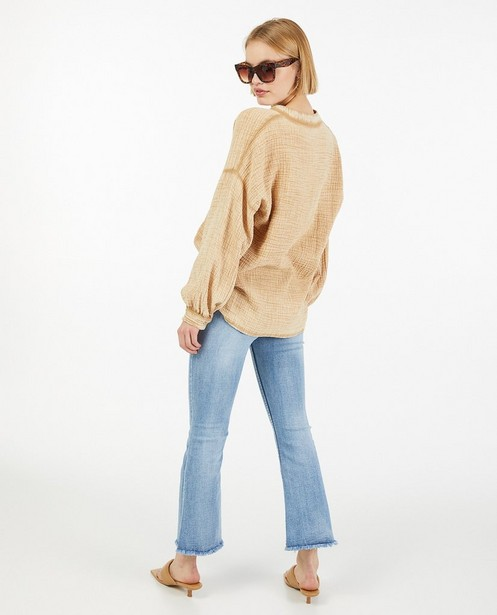 Chemises - Blouse brune en matière tétra