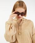 Hemden - Bruine blouse van tetrastof