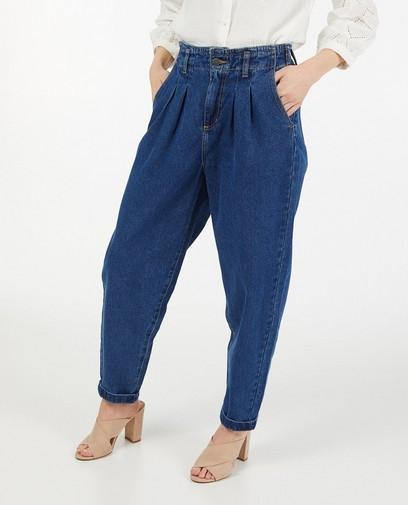 Donkerblauwe jeans met wijde pijpen