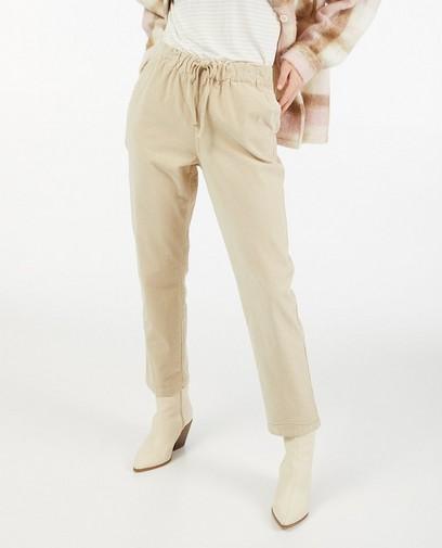Pantalon beige en velours côtelé