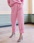 Pantalons - Pantalon rose en velours côtelé