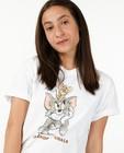 T-shirts - T-shirt blanc à imprimé Tom & Jerry