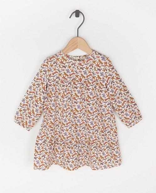 Witte jurk met dierenprint - allover - Cuddles and Smiles