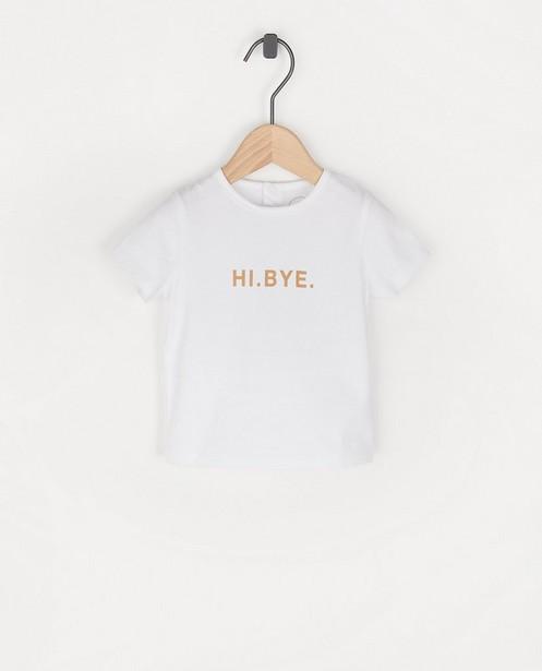 Wit T-shirt met opschrift BESTies - stretch - Besties
