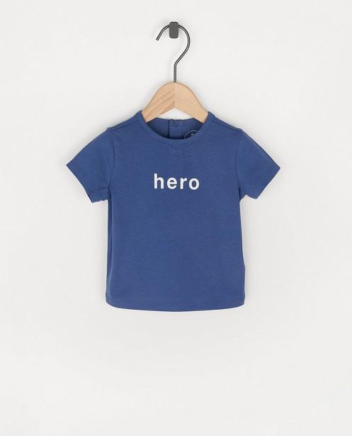 Blauw T-shirt met opschrift BESTies - stretch - Besties