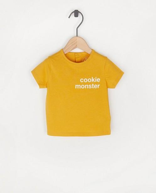 Geel T-shirt met opschrift BESTies - stretch - Besties