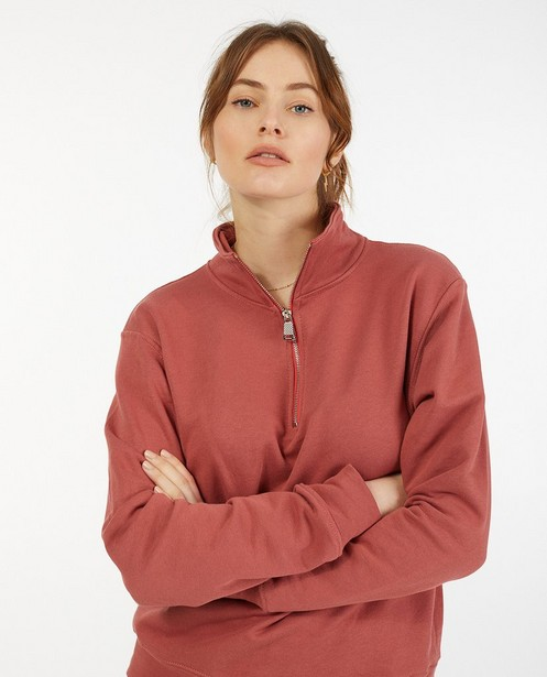Sweatertop met rits Ella Italia - stretch - Ella Italia