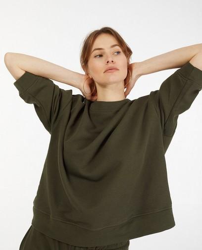 Kakigroene sweater Ella Italia
