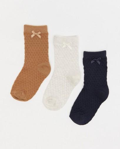 Lot de 3 paires de chaussettes pour bébés à motif