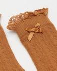Chaussettes - Mi-bas bruns avec nœud