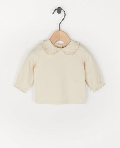 T-shirt à manches longues à rayures en coton bio