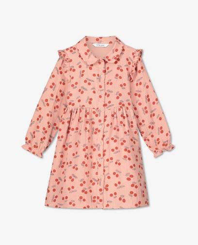 Roze jurk van tetrastof