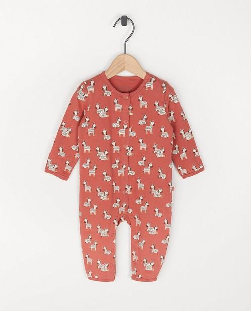 Pyjama en coton bio à imprimé de zèbre - combinaison - Cuddles and Smiles