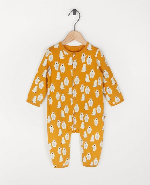 Pyjama unisexe en coton bio à imprimé - une pièce - Cuddles and Smiles