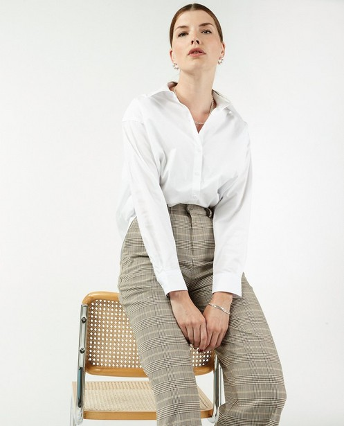 Chemisier blanc en popeline de coton Sora - coupe boxy - Sora