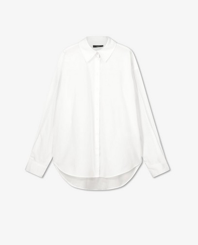 Wit hemd in katoenen poplin Sora