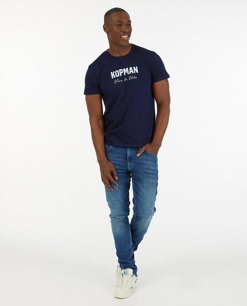 Blauw kopman T-shirt Vive le vélo - capsulecollectie - Vive le vélo