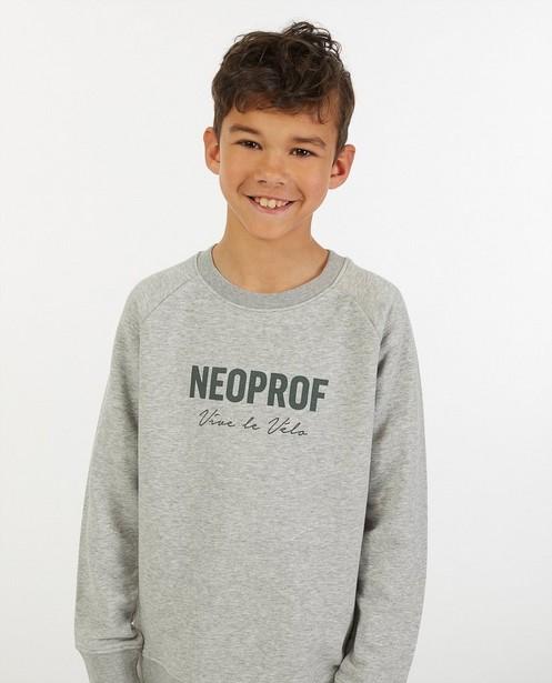 Sweat gris Neoprof Vive le vélo - en coton bio - Vive le vélo
