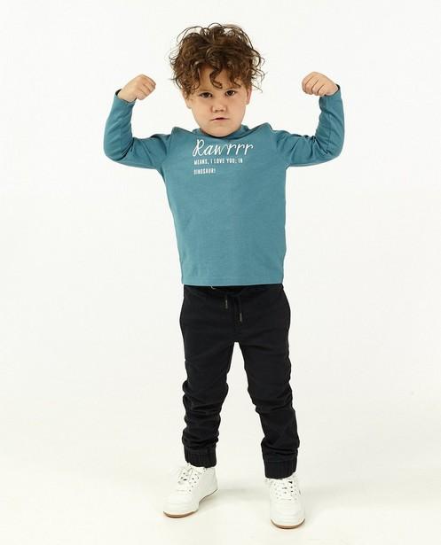 T-shirt bleu à manches longues BESTies - avec du stretch - Besties