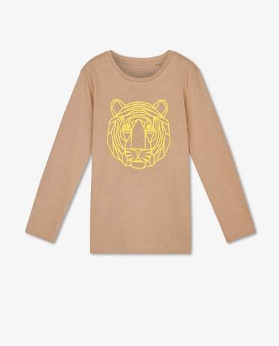 T-shirt à manches longues avec imprimé caoutchouté BESTies