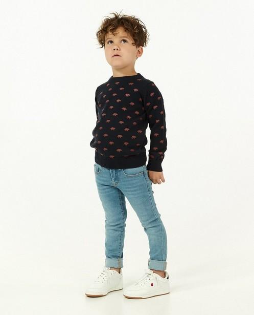 Pull bleu foncé à imprimé BESTies - en fin tricot - Besties