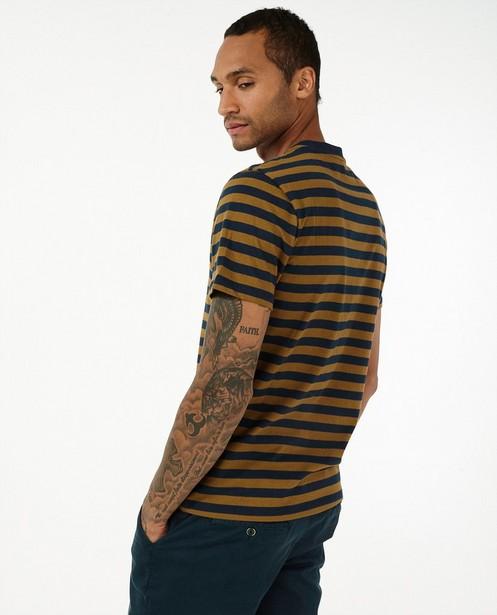 T-shirt met strepen League Danois - blauw-bruin - League Danois