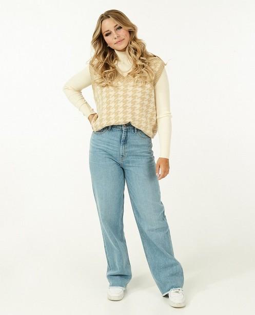 Lichtblauwe straight jeans Steffi Mercie - met hoge taille - Steffi Mercie