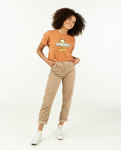 T-shirt orange à imprimé Garfield - avec du stretch - Groggy