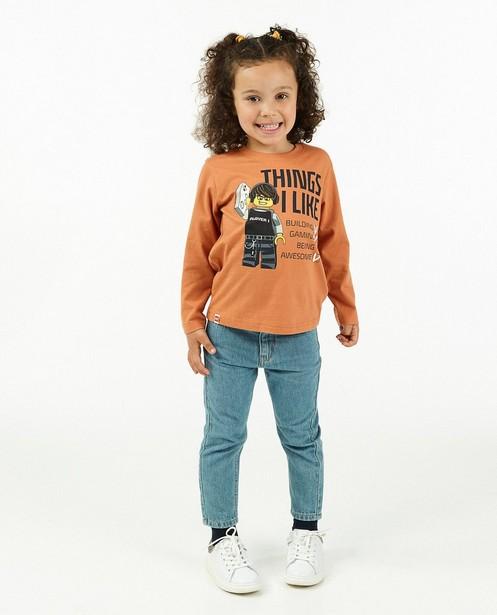 T-shirt unisexe à manches longues à imprimé Lego - orange - Lego