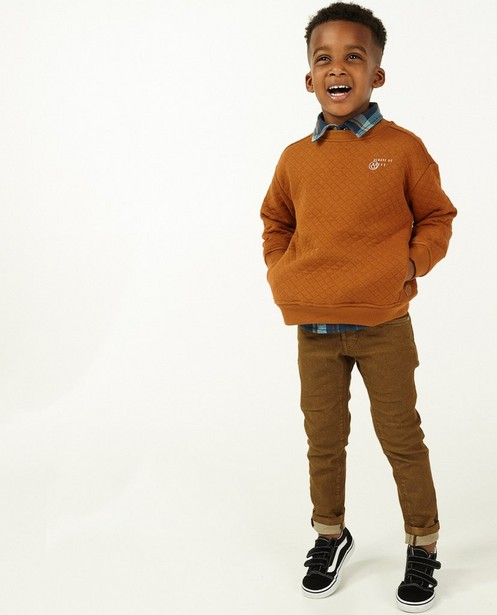 Bruine sweater met reliëf Wickie - allover - Wickie