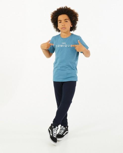 Blauw T-shirt met opschrift BESTies - van katoen - Besties