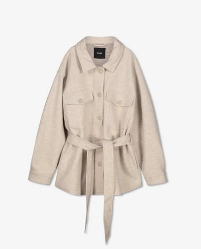 Manteau beige en laine Sora