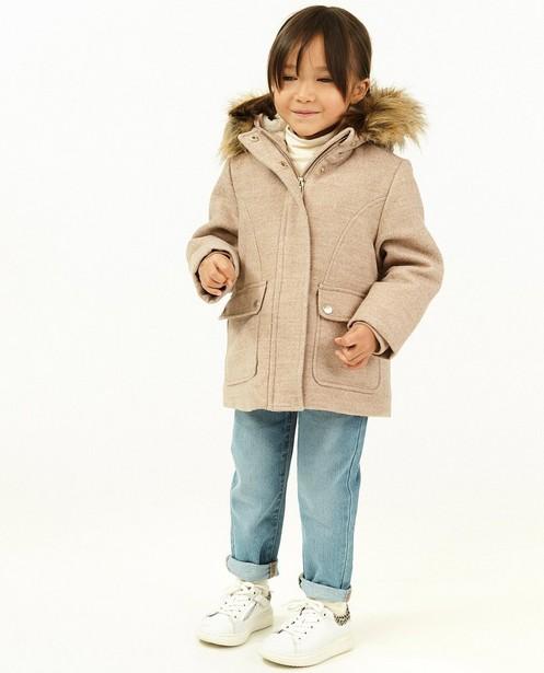 Manteau d'hiver en laine, 2-7 ans - avec de la fausse fourrure - Milla Star