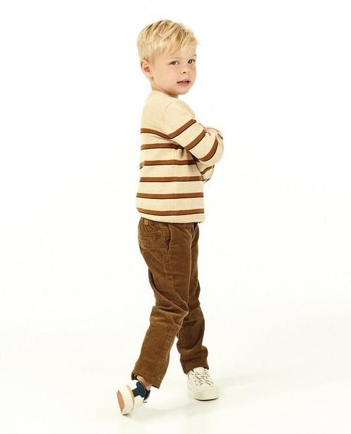 Pull à rayures en coton bio Samson - beige - Fred & Samson