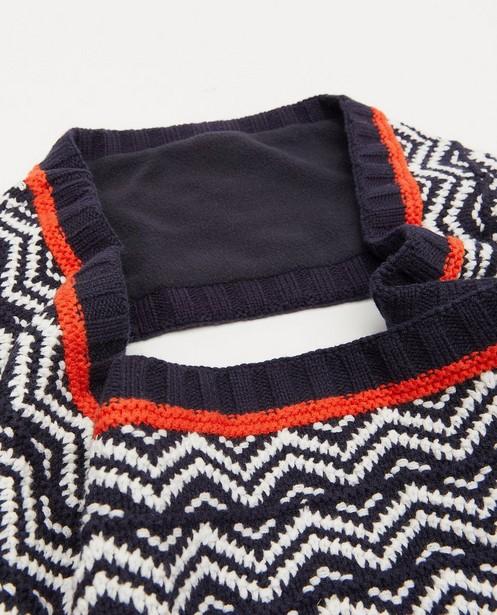 Bonneterie - Écharpe tube bleue avec du fleece s.Oliver