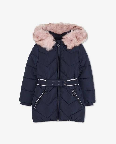 Manteau bleu avec doublure s.Oliver - avec col en fausse fourrure - S. Oliver