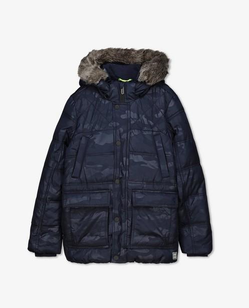 Manteau d'hiver bleu à imprimé s.Oliver - à capuchon - S. Oliver