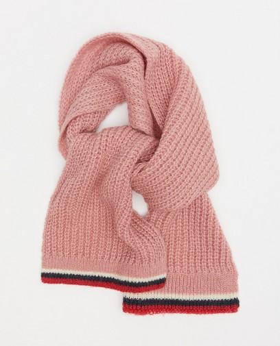 Roze sjaal met rib Samson en Marie