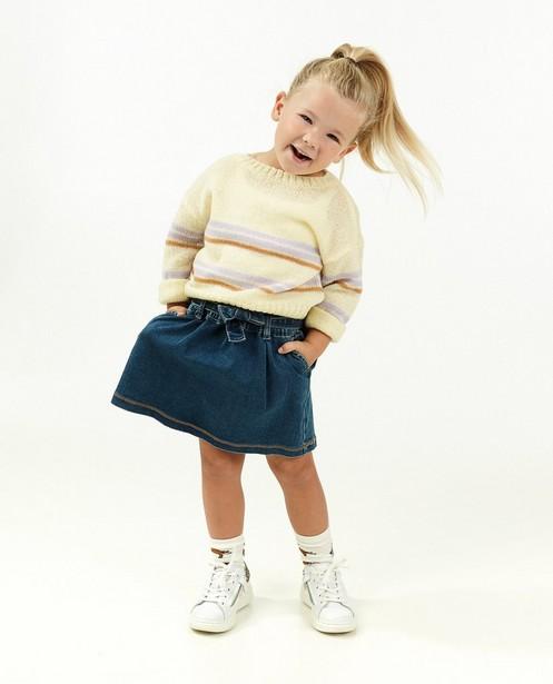 Jupe bleue avec une ceinture à nouer - stretch - Milla Star