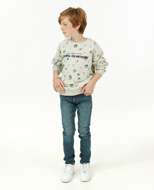 Blauwe skinny jeans Campus 12 - met stretch - Campus 12