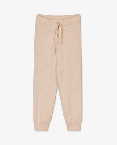 Pantalon beige en fin tricot